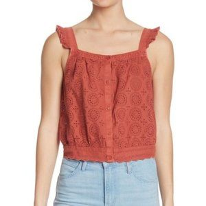Abound XXL Eyelet Rust Tank Top